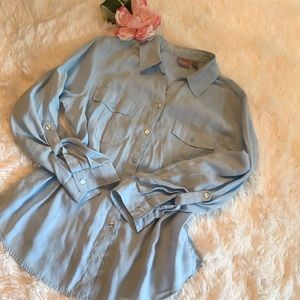 Chico's Blouse with Convertible Sleeves - 2